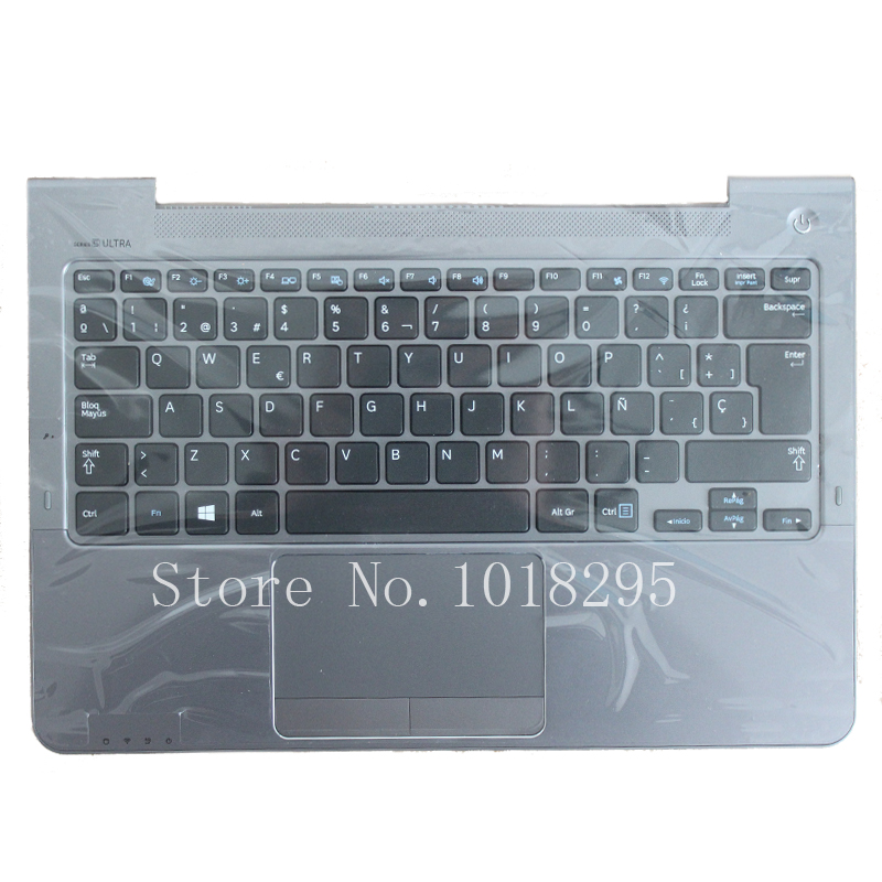 SP For Samsung NP530U3C NP530U3B NP535U3C 530U3B 530U3C NP540U3 NP532U3C NP532U3A Spanish keyboard gray palmrest cover new genuine 7 4v 45wh aa pbyn4ab battery for samsung ultrabook 530u3c np530u3b np530u3c 530u3c a01 530u3c a02 530u3c a03