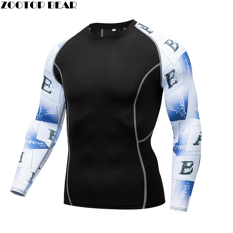 Lette MMA Compression shirt Men shirt quick dry Elastic Base Layer Skin Tight Weight Lifting Crossfit Top Tee Rash guard Fitness