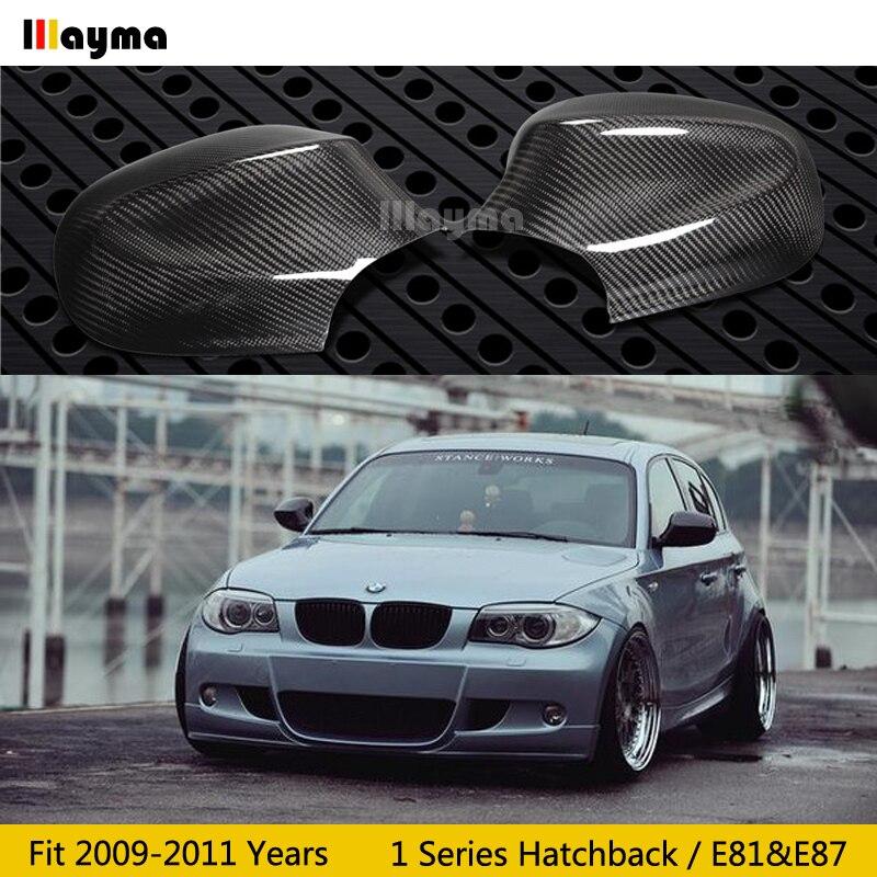 Carbon Fiber Mirror cover For BMW 1 Series Hatchback 116i 120i 130i 135i E81 E87 2009