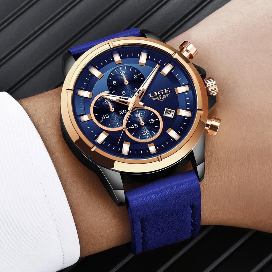 2Montre Étanche Chronographe Fashion bracelets Cuir