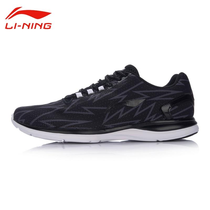 Li Ning Original Men's Light Runner Running Shoes Breathable Cushion Sports Irregular Pattern Design Cool Shoes Sneakers ARBM021 original li ning men professional basketball shoes