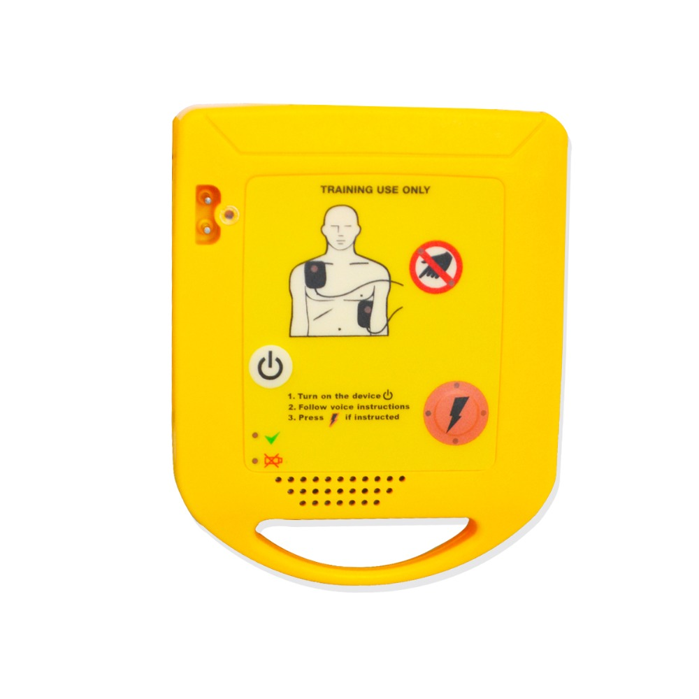 1 set New AED Automated Cardiopulmonary Resuscitation Training Device With Replaceable Language Card For Emergency
