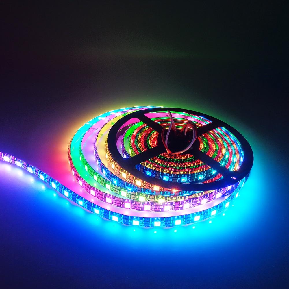 1M 5M Tira de led WS2812B 30/60/96 / 144leds DC5V Tira de píxeles de - Iluminación LED - foto 3