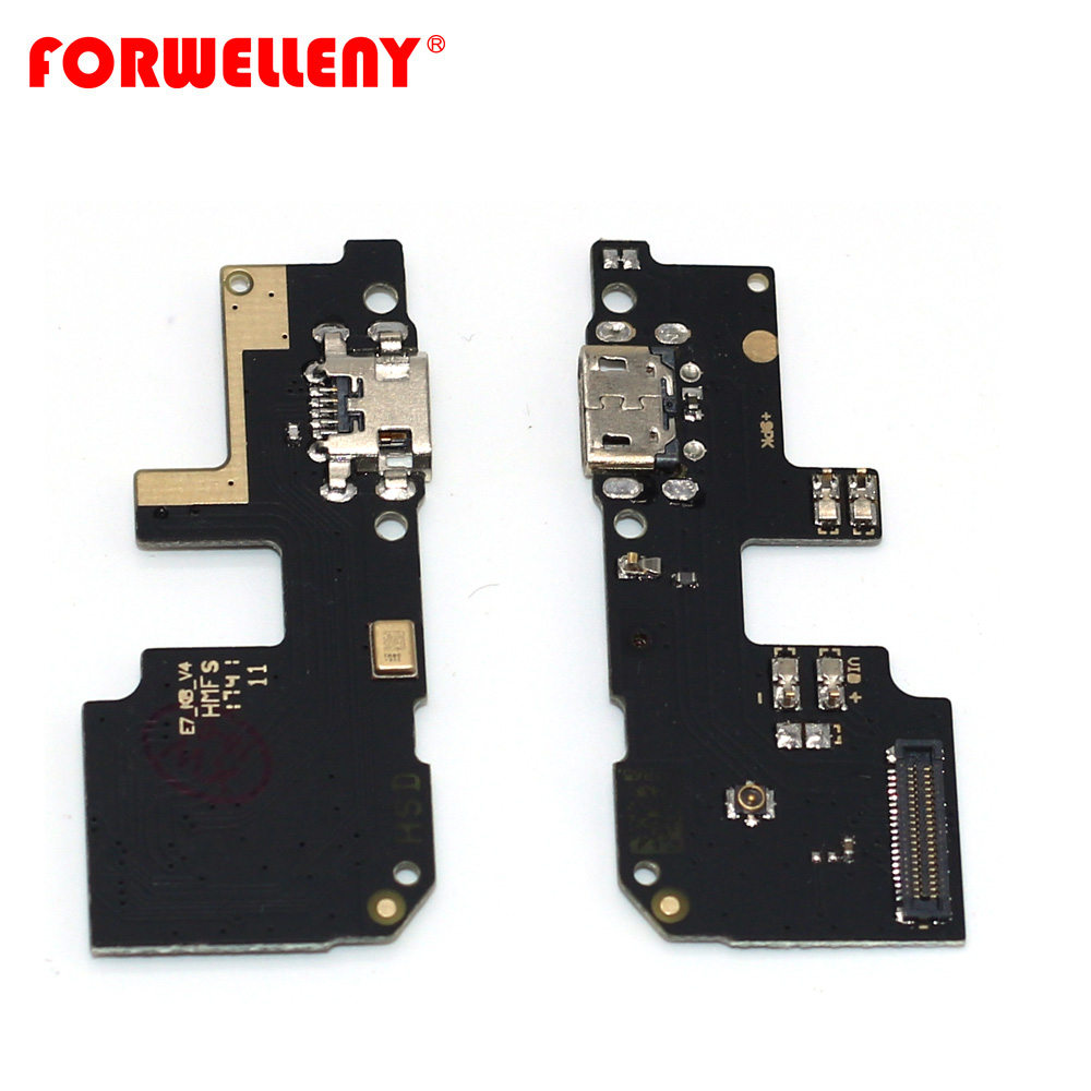 For xiaomi redmi 5 plus 5plus USB charging bottom board repair parts with mic replacement part