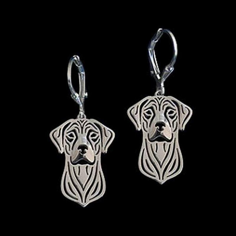 2018 New Arrival Women's Alloy Pet Earrings Jewelry Rhodesian Ridgeback Earrings Drop Shipping