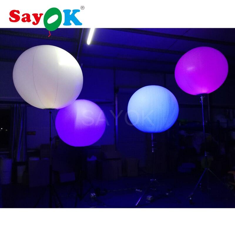 이벤트 광고에 대 한 할로겐 빛 또는 rgb 빛으로 뜨거운 판매 풍선 스탠드 삼각대 풍선-에서글로우 파티 용품부터 홈 & 가든 의  그룹 3