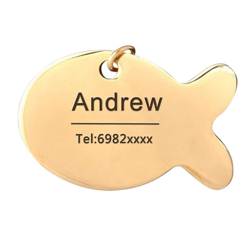 Etiqueta de identificación personalizada para collares de perro 5