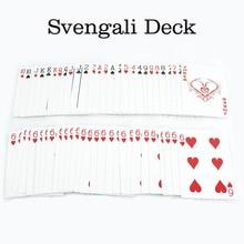 Classic Magic Tricks Magic Gimmick Card Svengali Deck Magic Trick for Magician Close Up Street Magic Prop Toys Free Shipping недорого