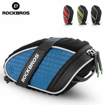ROCKBROS MTB Bicycle Bag 3D Shell Saddle Reflective Rainproof Shockproof Tail Rear Bag Seatpost Cycling Bag Bike Accessories - DISCOUNT ITEM  52 OFF Sports & Entertainment