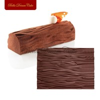 WOOD Texture Mat For Mousse Cake Decorating Tree Bark Sugar Mat Silicone Fondant Lace Mold Cake