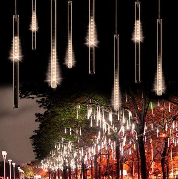 1Pcs X 50CM 240LED Meteor Shower Rain Tube LED Christmas Light Wedding Party Garden Xmas String Light Outdoor Holiday Lighting