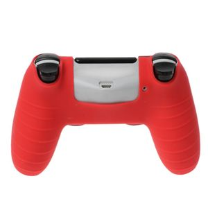 Image 3 - 7 cores anti deslizamento de silicone capa protetora da pele para playstation 4 ps4 ds4 pro fino controlador polegar vara aperto tampas
