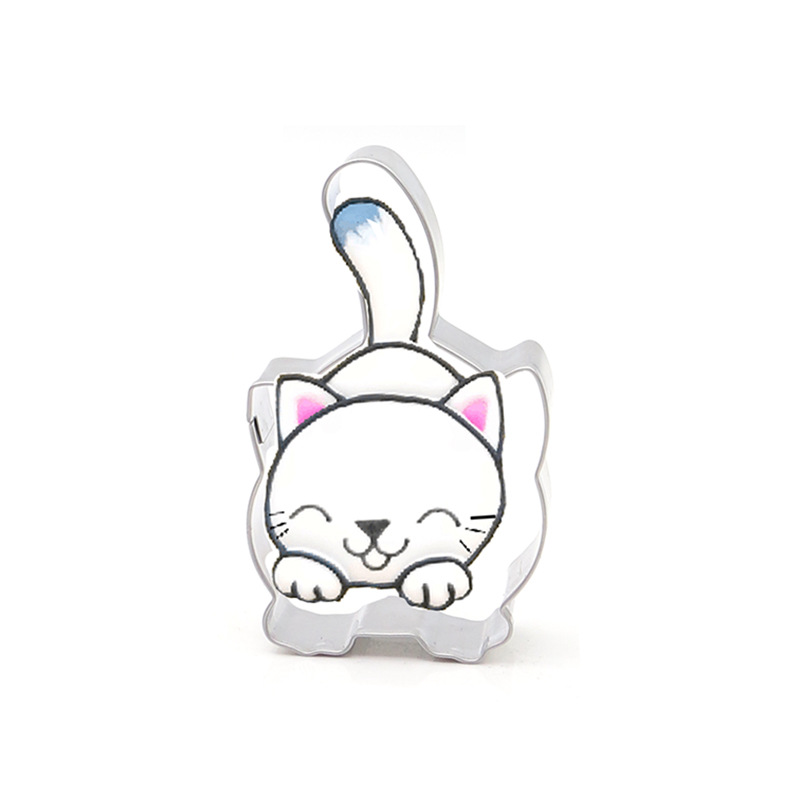 1 PCS 2019 New Arrival KECTTIO 4 Cute Cat Shapes Cookie Cutters Stainless Steel DIY Cake Tool Home Baking Supplies Hot Sale