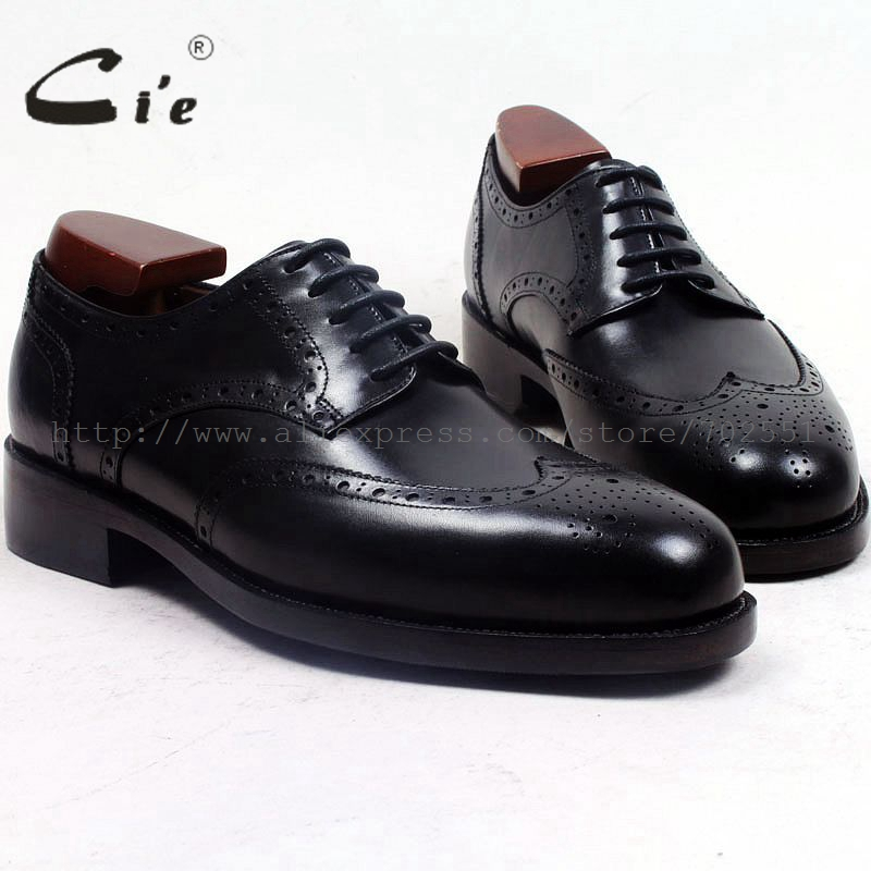 cie round toe full brogues medallion custom handmade men shoe bespoke leather shoe men's dress office black goodyear welted D156 bespoke mens goodyear welted shoes handmade custom pointed brock head layer cowhide free shipping red brown dress shoe