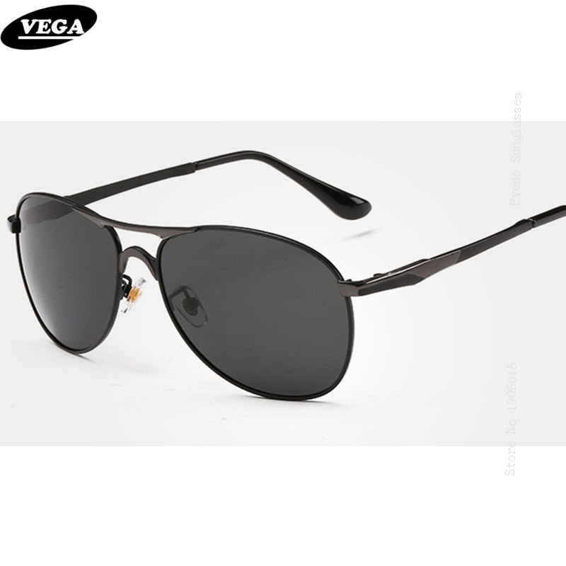 VEGA New Stylish Wrap Around Sunglasses Unisex Polarized Safety Glasses with Box HD Vision Eyeglasses Metal Frame 8722
