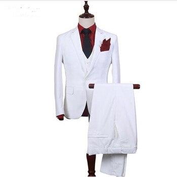 Men Business Suits Three Pieces Wedding Tuxedos Slim Fit Wedding Suit Mens Classic Formal Suits Custom Made (jacket+pant+vest)