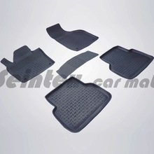 Для Audi Q3 2011-2019 резиновые коврики в салон автомобиля 5 шт./компл. Seintex 85506