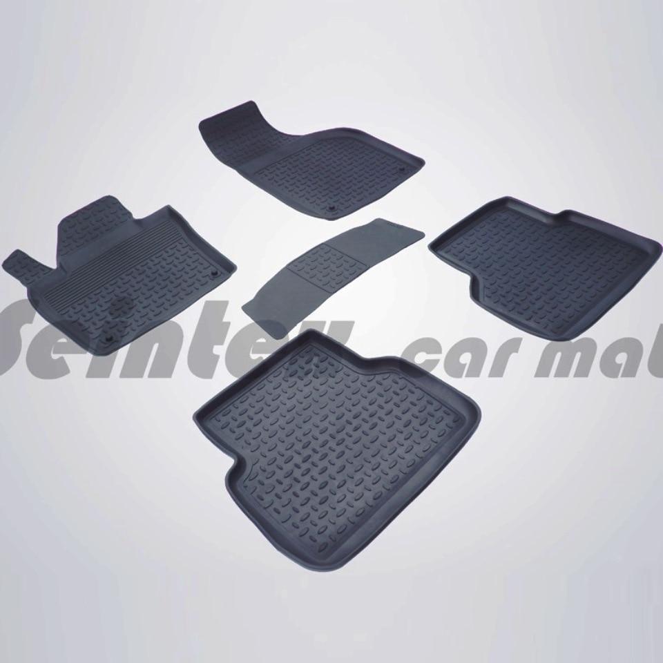 For Audi Q3 2011-2019 rubber floor mats into saloon 5 pcs/set Seintex 85506 for ravon r4 2016 2019 rubber floor mats into saloon 5 pcs set seintex 82910