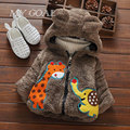 Winter Baby Coat Infants Boys Kids Hoody Hooded Thicken Bear Deer Elephant Snow Wear Jackets Cardigan Outwear Coat Parkas