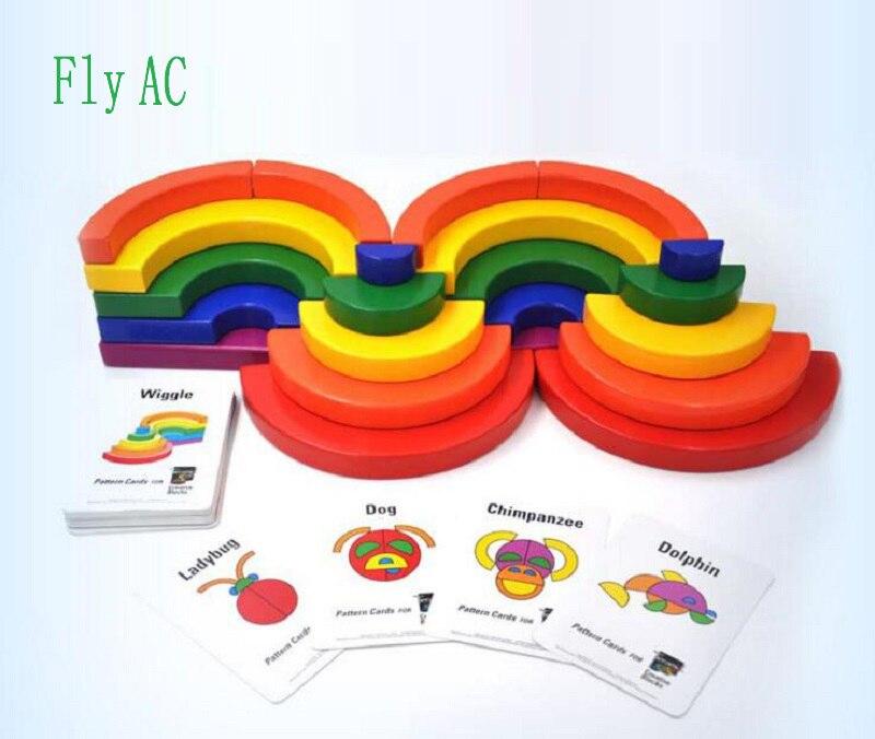 Fly AC Montessori éducatifs pour Enfants arc-en-construction blocs jouets Pour Enfants Bébé Développement Pratique et Sens Jouets Cadeau