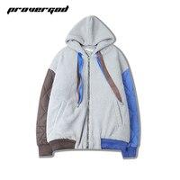 PROVERGOD Parka Jackes Heren Hiphop Contrast Kleur Jacket Oversized Winter Warme Jas Mannelijke Dikke Jas Casual Parka Warm Uitloper