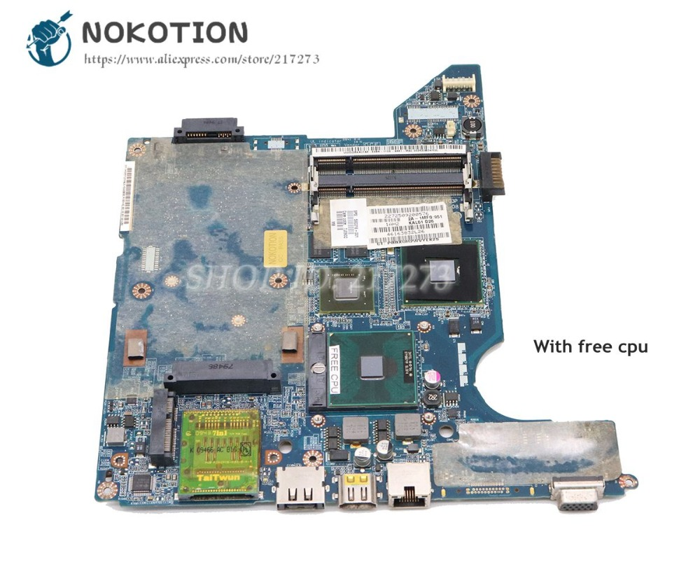 все цены на NOKOTION For HP Compaq presario CQ40 Laptop Motherboard JAL50 LA-4103P 590316-001 577512-001 G103M graphics free cpu онлайн