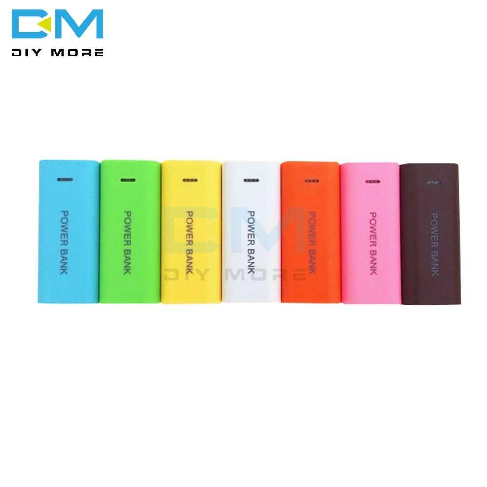 كاندي اللون موضة 5600mAh 2X18650 USB الطاقة جراب لشاحن البطارية الاحتياطية لتقوم بها بنفسك صندوق هاتف محمول ل 18650 بطارية ليثيوم تيار مستمر 5 فولت 1A