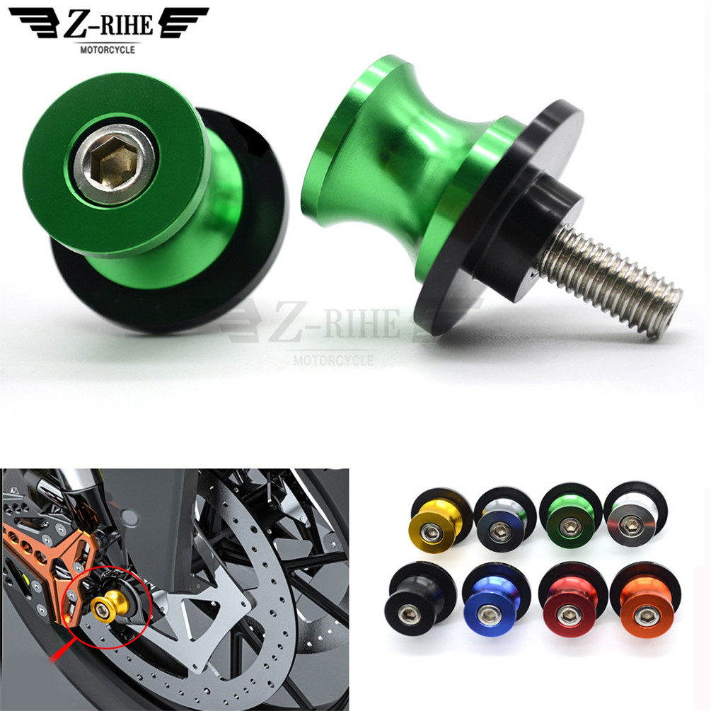 8MM swing arm Sliders Motorcycle CNC Swingarm Spools stand screws Slider for Yamaha XJ6 S Diversion YZF R1 R6 FZ8 FZ1N FZ1 FAZER