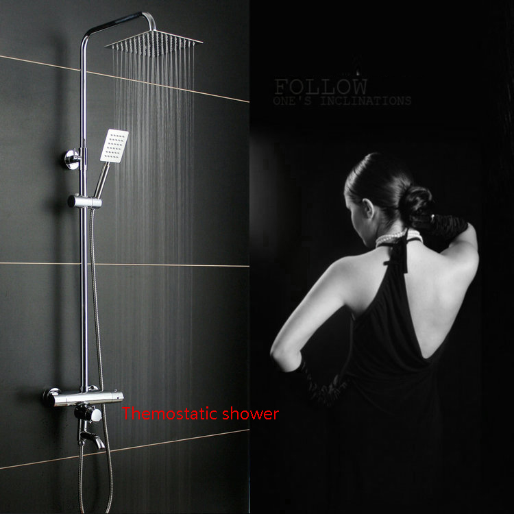 Dofaso brass shower column wall mounted thermostatic bath shower ...