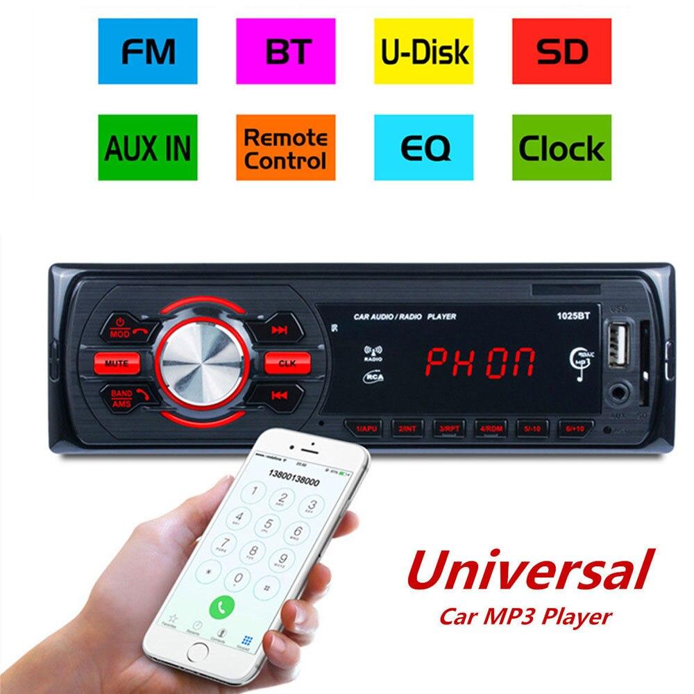 Detachable HD Car Radio Stereo FM/AM Radio Bluetooth Car Plug in Card Machine U Disk Locomotive Car Bluetooth MP3 Player 1025BT