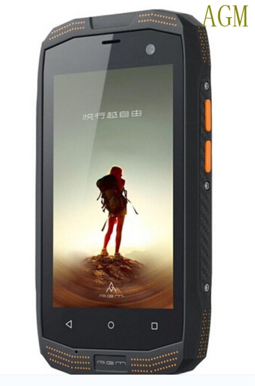 2016 Оригинал AGM разблокирована сотовый телефон смартфон прочный Android <font><b>IP68</b></font> Водонепроницаемый телефон пыле CDMA2000 4 г LTE GPS NFC Cat Манн