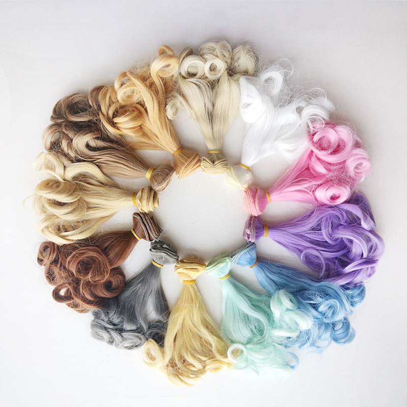 Fashion 20100cm DIY Curls Tresses Doll Wig High-Temperature Material Hair Wig For BJD And Handmade Toy Doll Accessories (10)