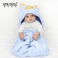 Npkdoll 22 дюймов Новорожденный ребенок кукла Силиконовые Моделирование Искусственный кукла игрушка для Кормление возродиться Детские модели