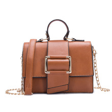 New Womens Bag Fashion Wild Small Fresh Square Solid Color Portable Ladies Shoulder 2019