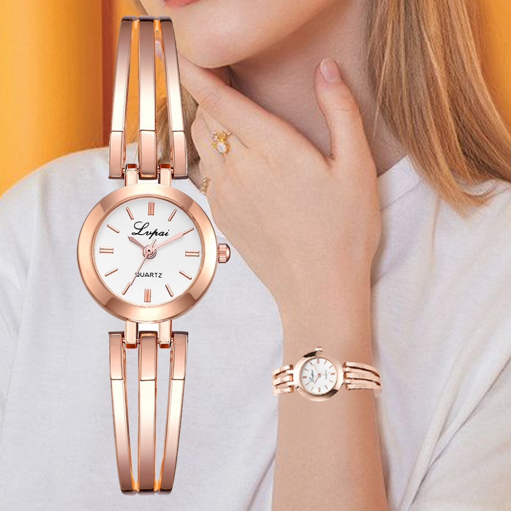 Lvpai Brand Women Bracelet Watches Luxury Rose Gold Wristwatches Ladies Fashion Casual Quartz Watch Female Clock Reloj Mujer