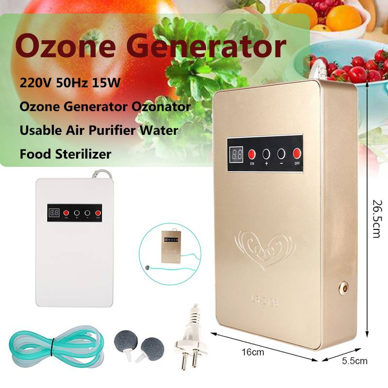 Ozone Generator Ozonator 600mg/h Air Purifier Water Food Sterilizer purifier Purification Vegetable Fruit Preparation ozonator image