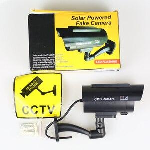 Image 5 - Solar Fake Camera 4pcs Bullet Security Outdoor CCTV Dummy Camera Waterproof Surveillance Flashing Red LED Free Shipping Black