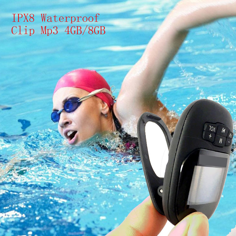 IPX8 Waterproof 4G/8G Clip Mp3 Hifi Swimming Underwater Mini Sport MP3 Music Player Ster ...