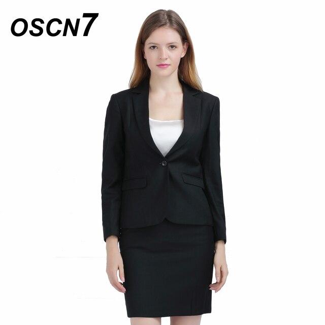 9a64a2c7d1 OSCN7 Slim Fit Ladies Suit with Skirt Business Plus Size Leisure Skirt Suit  2018 Fashion Office Uniform 152