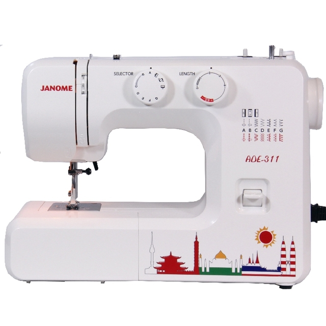 Domestic Sewing Machine ADE 40 40 Stitches JANOME Brand Made In Amazing Sewing Machine Thailand