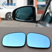 smRKE 2Pcs For Toyota Reiz Rearview Mirror Blue Glasses Wide Angle Led Turn Signals light Power Heating