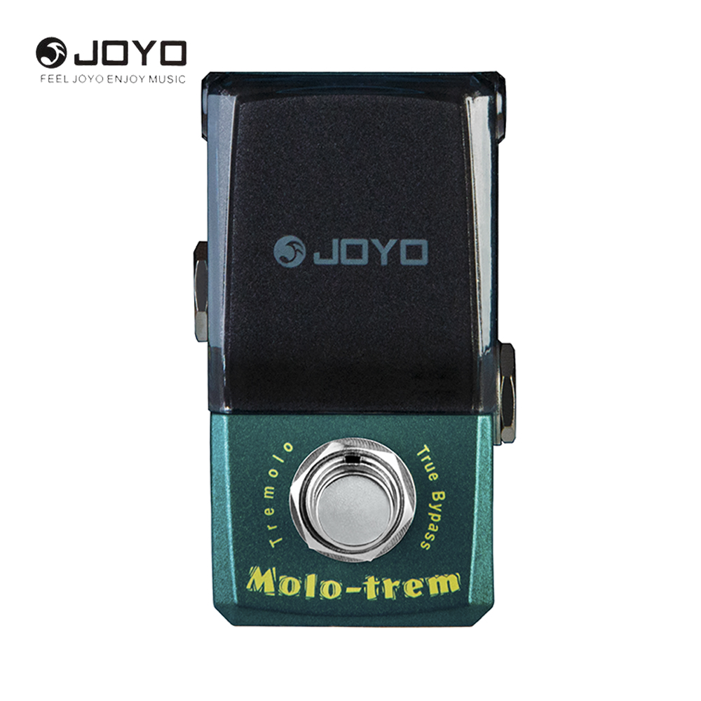 Joyo IRONMAN JF-325 Mini Electric Guitar Effect Pedal Box Molo-Trem Tremolo Guitar Accessories With True Bypass joyo ironman orange juice amp simulator electric guitar effect pedal true bypass jf 310 with free 3m cable