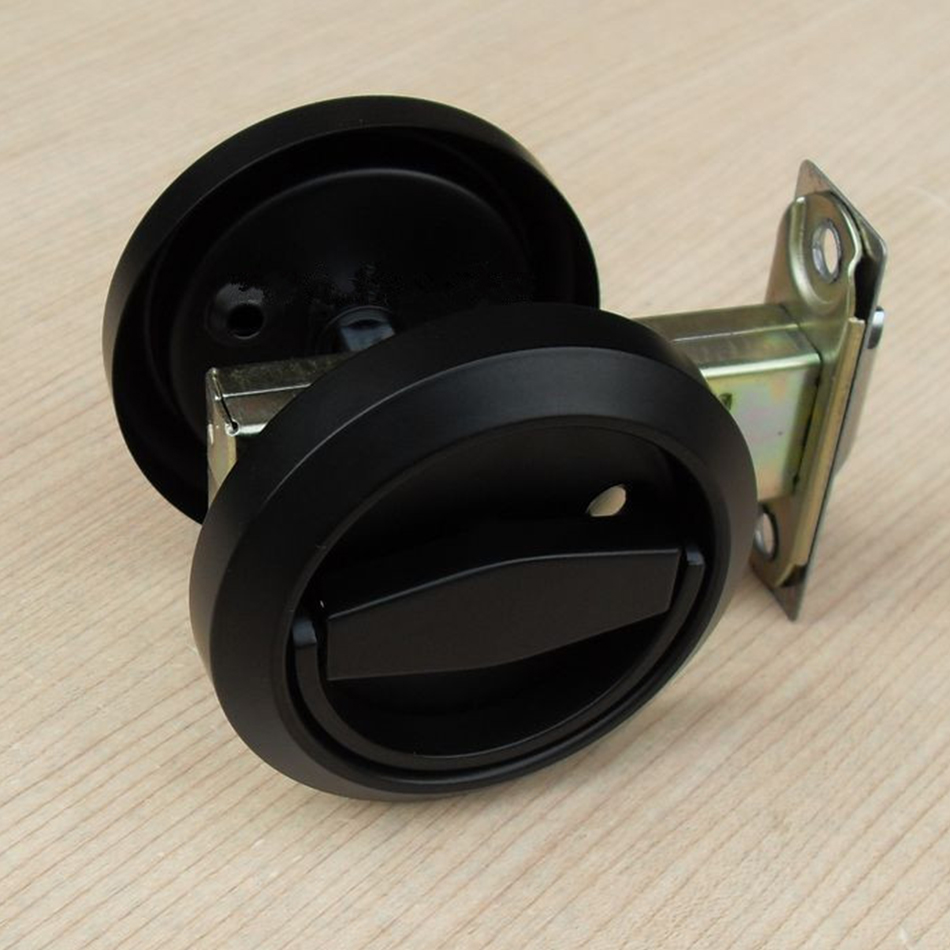 Buy Fashion Black Stainless Steel Recessed Hood Lock Cup Handle Hidden Door