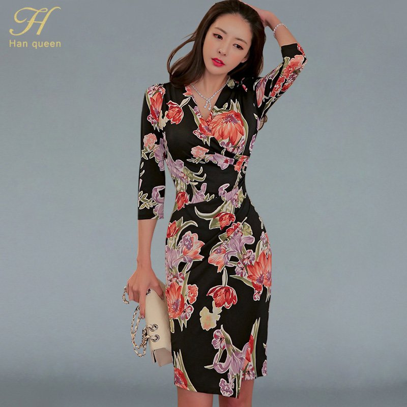 f895bb24806c Cheap Dresses, Buy Directly from China Suppliers:H Han Queen Summer New  Printing Casual