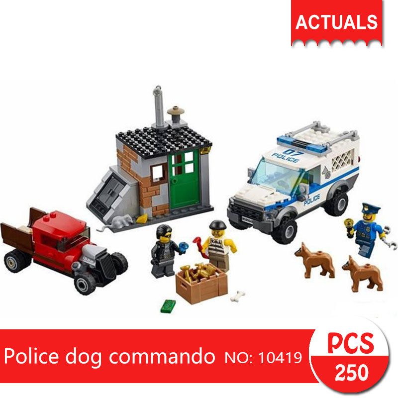 City Series Police police dog commando 60048 250pcs 10419 Building Block Set Toys For Children Gift compatible Legoing enlighten 129 police series headquater city riot building block compatible legoe 589pcs diy toys for children