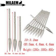 12/24/50pcs Archery Arrowheads Insert Point Tips 80/100/120gr Broadheads Fit ID3.2mm Arrow Shaft Shooting Hunting Accessories