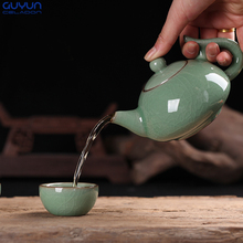 Porcelain Tea Holder Tea Accessories Teapot Longquan Celadon Kung Fu Tea Sets Kettle 240ml