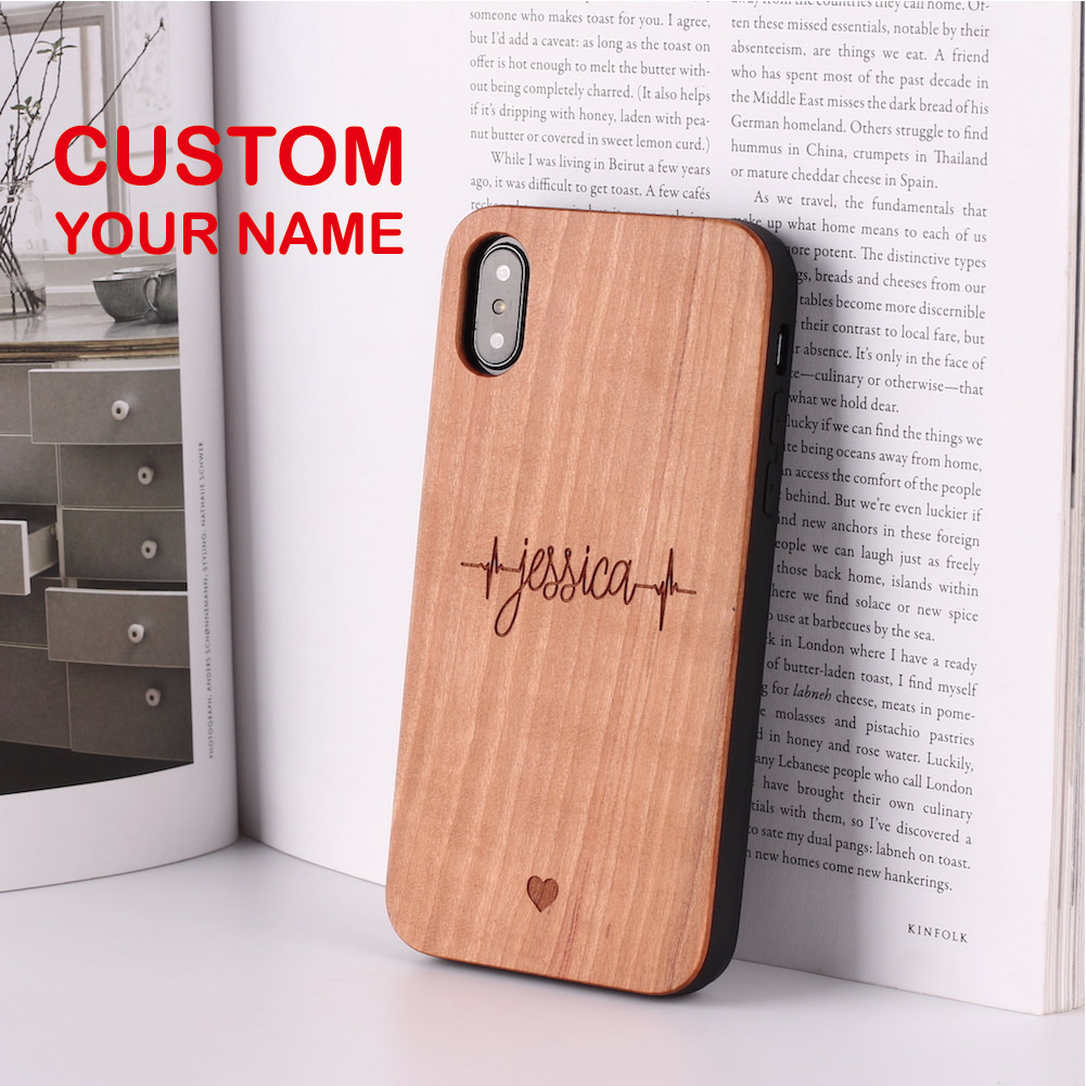 Heartbeat Archer Lover Cupido Love Personalized Custom Wood Phone Case For iPhone XS Max 7 7Plus 8 8Plus X SASMUNG S7 S8 S9-in Fitted Cases from Cellphones & Telecommunications on AliExpress - 11.11_Double 11_Singles' Day 1