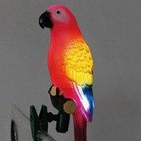Energia solar led luz pássaro papagaio lâmpada com clipe luzes da noite para jardim ao ar livre caminho ornamento ai88|Lâmpadas solares| |  -