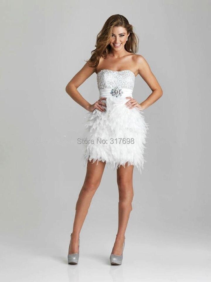 2015 bordatura nuovo donne vestito da cocktail fidanzata elegante abiti da  cocktail corti abito di piume vestido de Festa curto sexy in 2015 bordatura  nuovo ... 33a99a85dc2